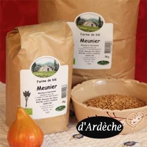 blé meunier bio Ardèche