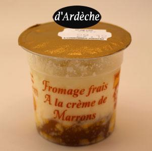fromage frais marron délice Ardèche