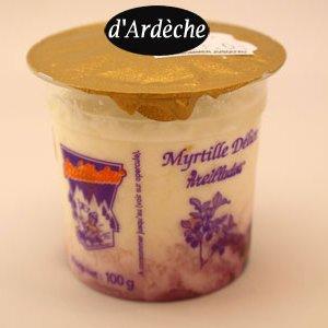 fromage frais myrtille délice Ardèche