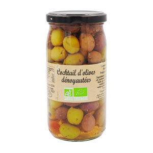 mélange olives dénoyautées bio