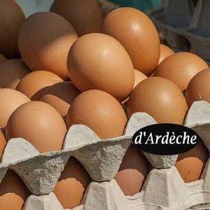 oeufs bio d'Ardèche