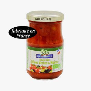 sauce aux olives bio