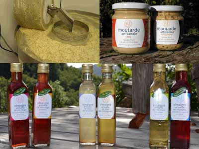 vinaire et moutarde artisanal
