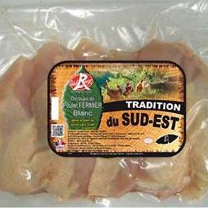 filet poulet fermier blanc sud est France label rouge