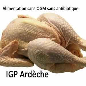 poulet fermier IGP Ardèche blanc label rouge