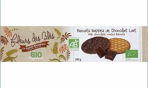 biscuits nappés au chocolat Bio